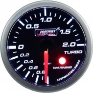 ProSport Gauge Turbo Boost Pressure 52mm - White