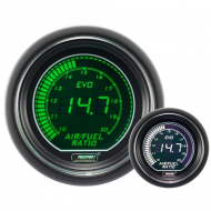 Richesse Air Essence WIDEBAND Prosport Manomètre 52mm - EVO - AFR - Blanc/Vert.