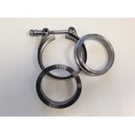 Colliers + 2 bagues V-Band 2.5' 63mm