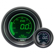 ProSport gauge turbo boost pressure 52mm - EVO - White/green