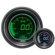 Pression Turbo Prosport Manomètre 52mm - EVO - Blanc/Vert