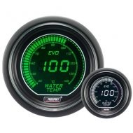 ProSport gauge water temp - 52 mm - EVO - White/Green