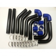 "Kit de tubes d'intercooler noir 2.5"" 63mm"