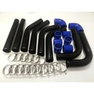 """Kit de tubes d'intercooler noir 2.5"""" 63mm"""