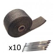 Bande thermique titane 7.5m 1200° avec colliers