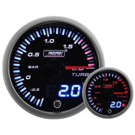 Turbodruck Manometer ProSport 52mm-Blau/Rot