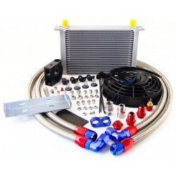 Oil cooler kit with blowing...